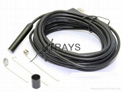 High resolution 1600x1200 2MP waterproof usb endoscope 6LED lights 5M snake tube