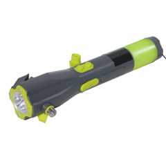 vechile 8 in 1 hammer,emergency knife,crank dynamo flashlight