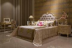 King wood platform bed / indian bed designs
