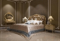Italian leather bed Latest Wooden Furniture Designs Antique Carved Bed room bed  3