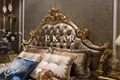 Luxury French Royal wood double bed