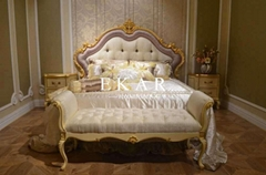 Country style king size bedroom furniture bed sets