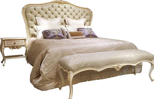 High headboard white fancy design teak wood wooden bed / dubai bunk bed 1