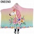 ONEENO High quality cheap hooded blanket