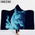 High Quality 3D Wolf Animal Hooded