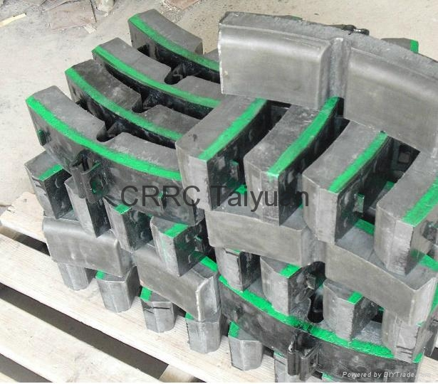 railway brake shoe  pad 2