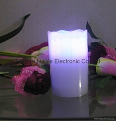 3pc set flameless real wax dripping remote control led candles