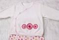 Sweet Ve  et Material Long Sleeve Baby Girl Suit