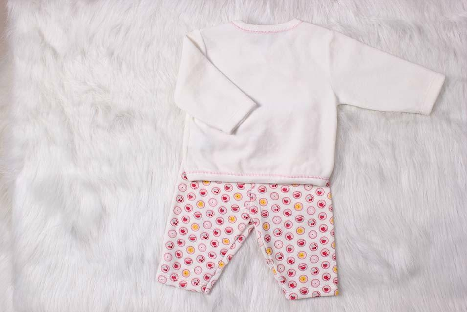Sweet Ve  et Material Long Sleeve Baby Girl Suit 2