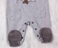 Cute Bear baby boy Long Sleeve Romper with feet