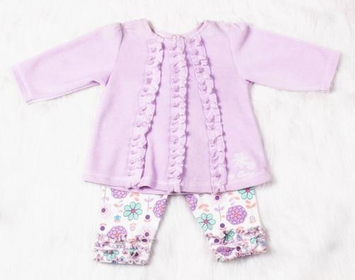 Sweet Baby girl cotton clothing set  flower spring and autumn clothing  set ve   1