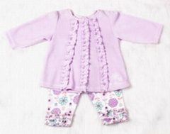 Sweet Baby girl cotton clothing set  flower spring and autumn clothing  set ve