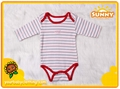 Sweet 100% Cotton Long Sleeve Baby Bodysuit 1