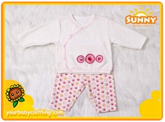 Sweet Ve  et Material Long Sleeve Baby Girl Suit