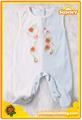 Spliced Sleeveless Ve  et Baby Romper with Feet