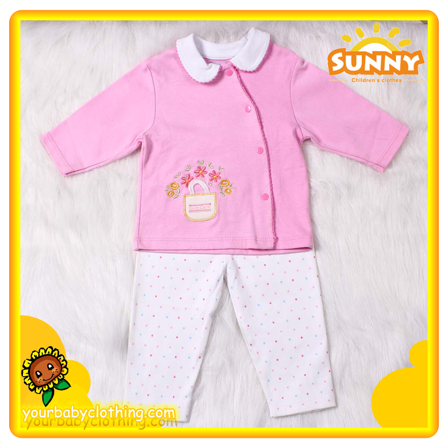 Boutique New Born Baby Girl Set 2pc 1
