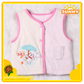 Baby Girl Clothes Winter Padded Cotton Silk Vest 1