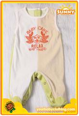 Warm Sleeveless Velvet Baby Romper With Feet