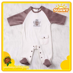Warm Newest Lovely Velvet Long Sleeve Baby Romper Underwear