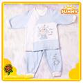 New Born Baby Spliced Cotton Pajamas 2pc