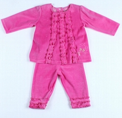 New Arrival Autumn-Summer Baby Girl Clothing Set with Lovely Lace