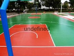 东莞石排球场地板漆