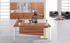 executive computer table sandal wood color