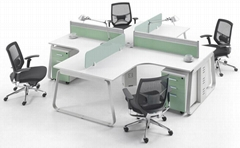 modern office division panel system white
