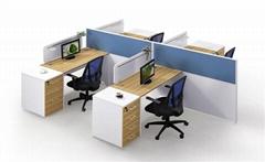 ChuangFan CF-P10313 office ergonomic workstation cubicles with L shaped desk