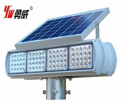 Solar Flashing Red and Blue LED Traffic Light