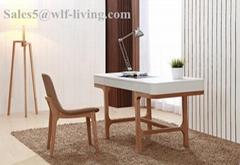 MDF Desk Top and Wooden Leg Office Desk (WLF-DK002)