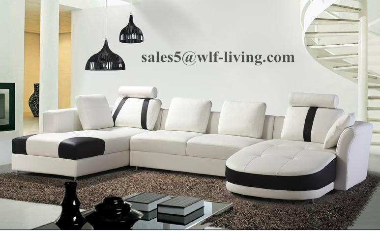 Fashion Design Living Room Leather Sofa Couch Sofa bed  1