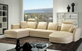 Fashion Design Living Room Leather Sofa Couch Sofa bed  2