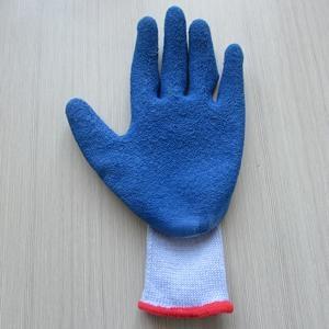 工厂供应21支纱乳胶起皱手套 1