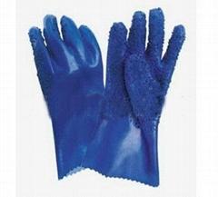 批发PVC橡胶劳保手套