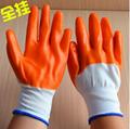 PVC黃膠挂膠手套浸膠防護