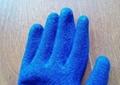 10針乳膠線皺勞保手套工地用