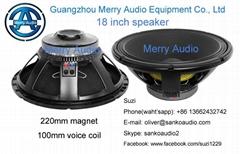 18 inch speaker/sub woofer speaker/pa woofer