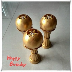 Fireworks Football Birthday Candle for Cake and party use