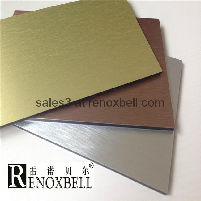 Brushed Series Aluminum Composite Panels for Curtain Wall 2