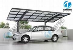 single carport with aluminum frame
