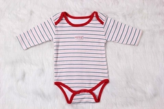 100% cotton long sleeve baby bodysuit