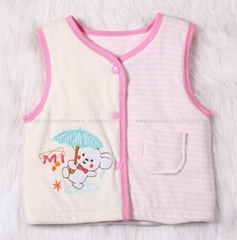 Baby Girl clothes Winter Padded Silk Cotton Vest