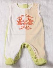 Sleeveless Ve  et baby romper with feet 3 Color Spliced Romper