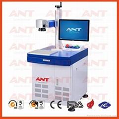 fiber laser marking machine engraving system on name card IPG laser generator
