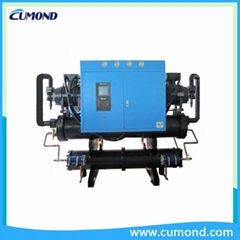 Low temperature twin crew water cooling single water industrial chillers