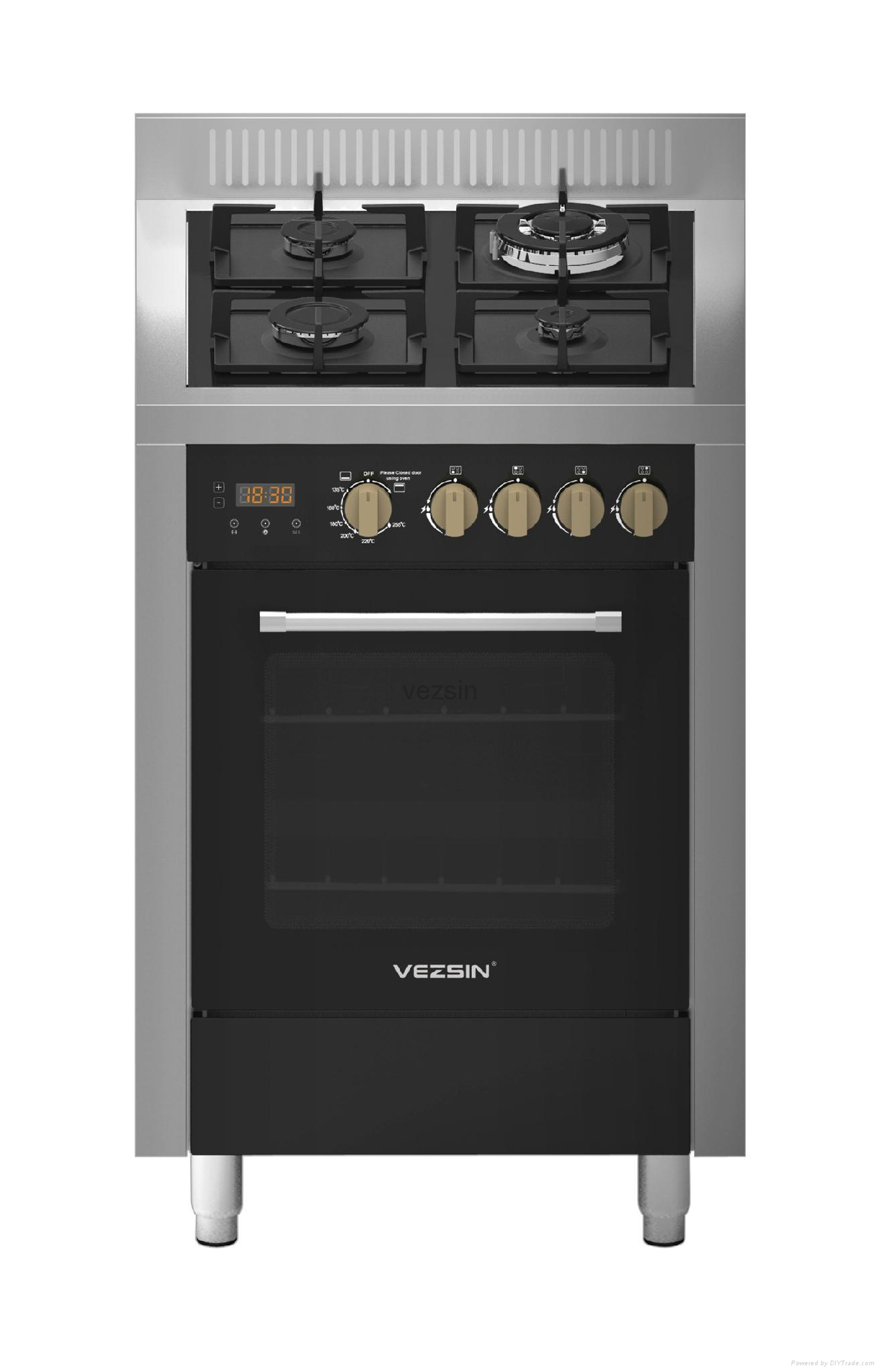 Vezsin 24 Inch Stainless Steel Free Standing Gas Cooker with Oven (G24D05) 1