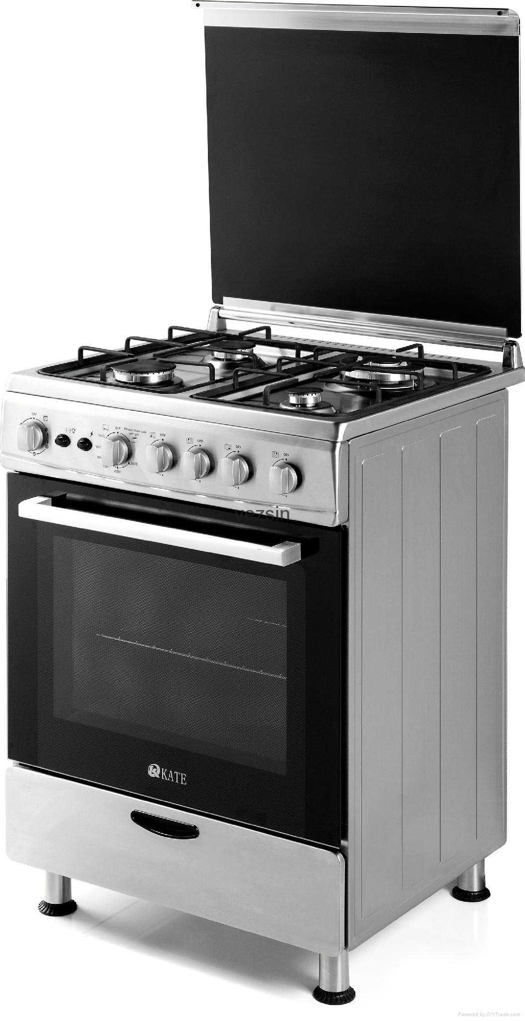 Kate 24 Inch Stainless Steel Free Standing Gas Cooker with Oven (G24B01) 1
