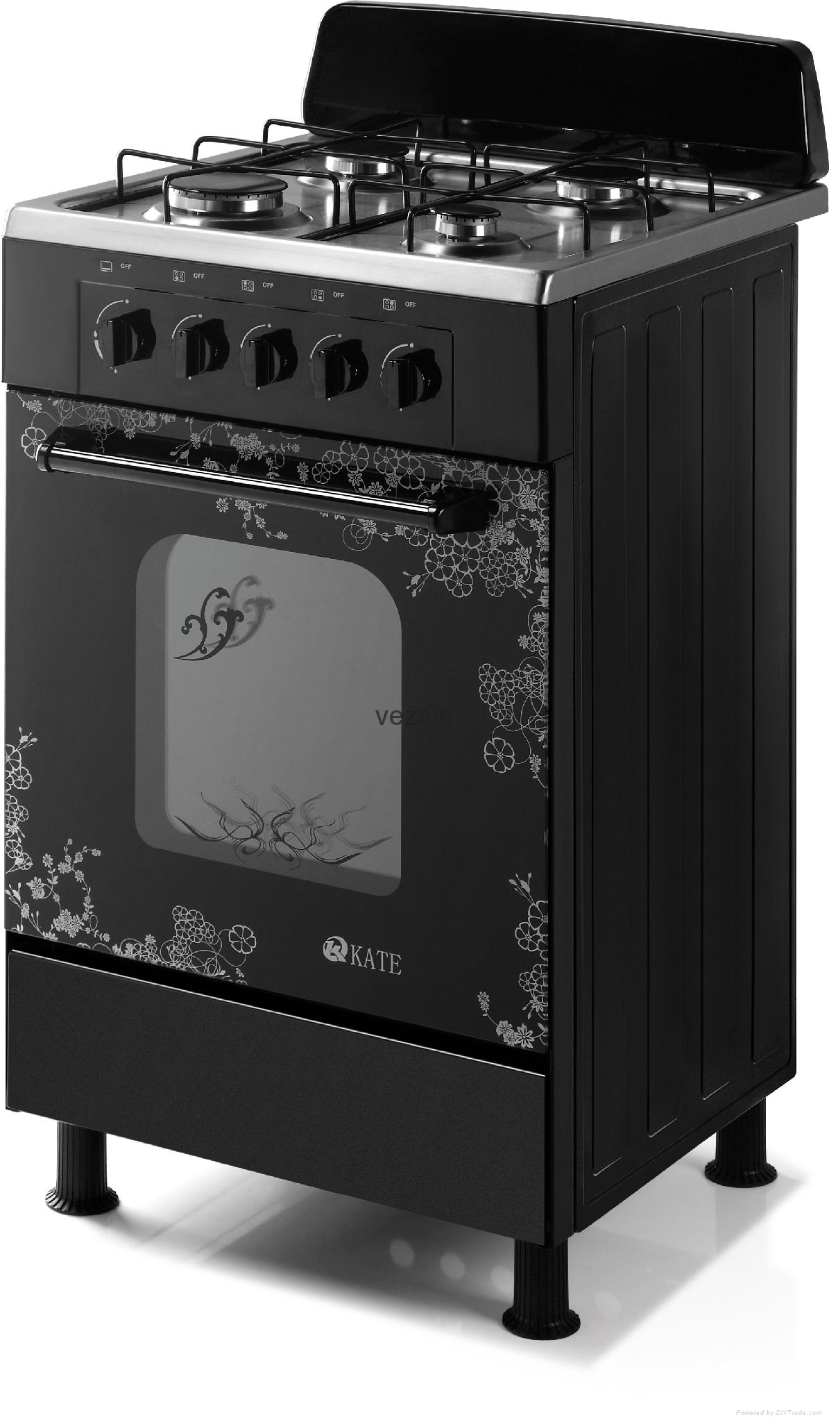 Kate 20 Inch Stainless Steel Free Standing Gas Cooker with Oven (G20A10) 1