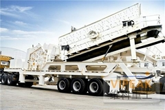 Combined Mobile Impact Crusher Plant